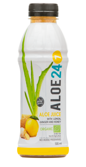 Totally Wild Organic Aloe Ginger, Lemon & Honey Juice