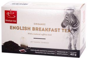 Khoisan Tea Organic English Breakfast Envelope