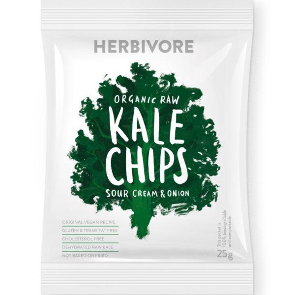 Herbivore Organic Raw Kale Sour Cream & Onion Chips