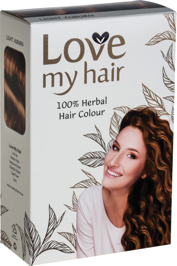 Love My Hair Light Auburn 100% Herbal Hair Dye
