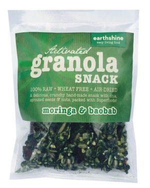 Earthshine Activated Granola Moringa & Baobab Snack