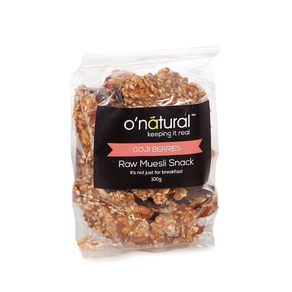O'Natural Raw Muesli Goji Berry Snack Pack