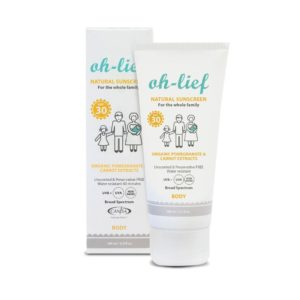 Oh-Lief Natural Body Sunscreen SPF30