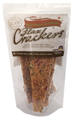 Earthshine Red Onion & Chives Flax Crackers