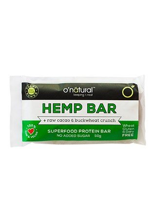 O'Natural Hemp & Raw Cacao Protein Food Bar