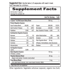 Garden of Life Omegazyme Digestive Enzymes facts