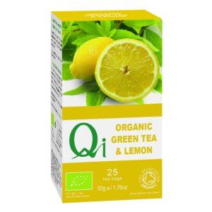 Qi Fairtrade & Organic Green Tea & Lemon