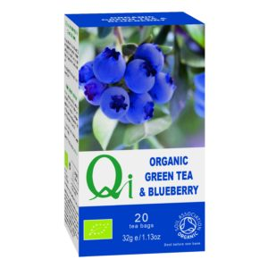 Qi Fairtrade & Organic Green Tea & Blueberry
