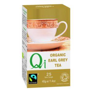 Qi Fairtrade & Organic Earl Grey Tea