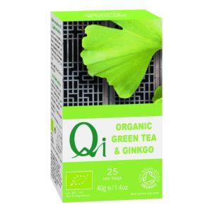 Qi Fairtrade & Organic Green Tea & Gingko