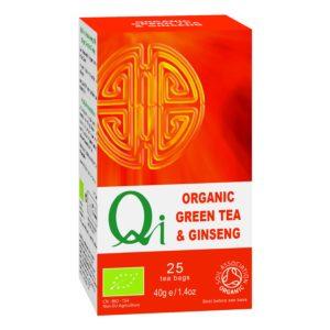 Qi Fairtrade & Organic Green Tea & Ginseng