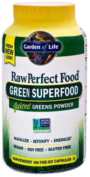 Garden of Life Perfect Food Raw Green Food Tablets