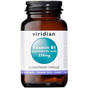 Viridian Pantothenic Acid Vitamin B5 350mg