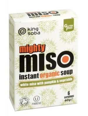 King Soba Mighty Miso Soup with Pumpkin & Vegetables