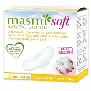 Masmi Ultrathin Pads Natural Cotton Soft Day W:Wings