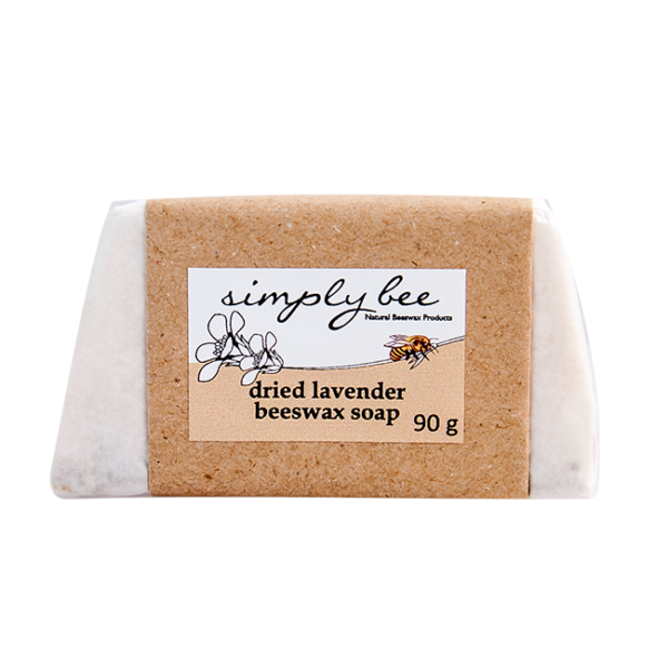 Simply Bee Lavender Beeswax Soap with Dried Lavender