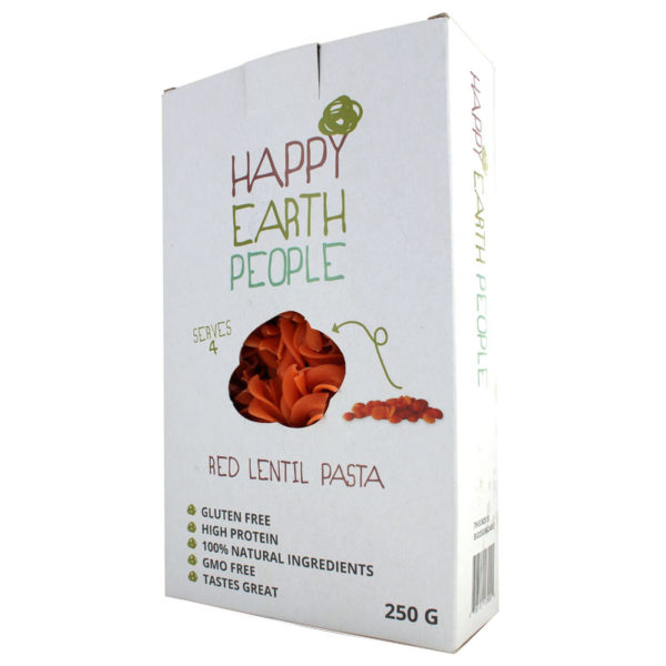 Happy Earth People Red Lentil Pasta