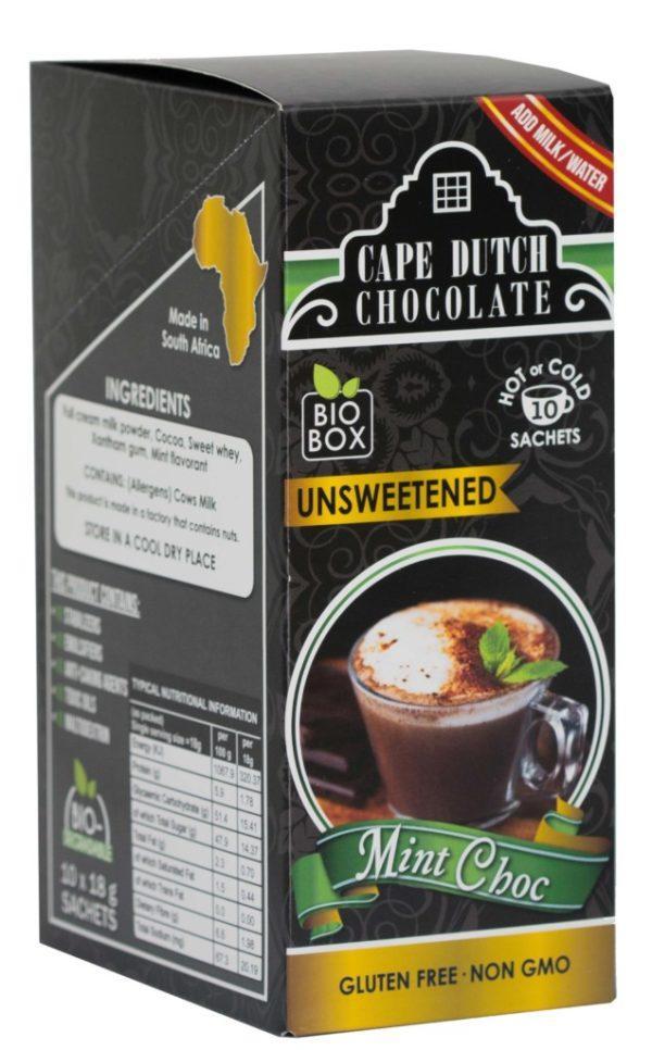 Cape Dutch Mint Hot Chocolate Unsweetened